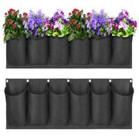 Grow Bags Tessuto non tessuto alzato Giardino letto Rettangolo Piantatura Contenitore Fiore Verdure Patata Della Patata Piante Pot piante