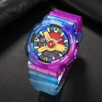 110 The new sports and leisure quartz men's watch LED digital waterproof watch jelly color high quality