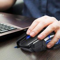 백라이트 마우스 가정용 광학 마우스 USB 유선 2400DPI 컴퓨터 안전 부품 IMICE X7 게이머 컴퓨터 PC