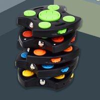 Rainbow Student Push Fidget Bubble Toys Decompressione Cube Pop Autismo Stress Sollievo Game Maniglia Pulsante Tiktok FingerIp Giochi di plastica Giocattolo G62ZXPM