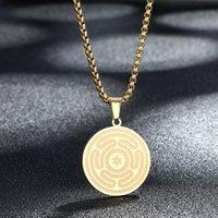 Collane del pendente Dretrieux in peltro della ruota del simbolo della dea di Hecate Collana della collana di Hekate Magic Strophalos Catena di Negromancy