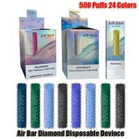 Air Bar Diamond Disposable E Cigarettes Pod Device 500 Puffs 380mAh Battery 1.8ml Prefilled Cartridge Vape Pen Vs Lux Max Plus Bang XXL