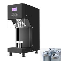 Vacuum Food Sealing Machine 220V Can Milk Tea Shop Commercial Beverage Cup Fully Automatic Plastic Bottle Lid 55mm 370W