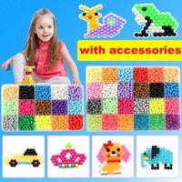 DIY 물 스프레이 비즈 세트 6000pcs 24colors 구슬 퍼즐 크리스탈 컬러 볼 게임 3D 수제 키즈 마술 장난감 어린이 210607