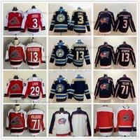 2021 Retro Retro Hockey sobre hielo 3 Seth Jones Jerseys Red 71 Nick Foligno 13 Cam Atkinson 29 Patrik Laine Blank Blue Blanco