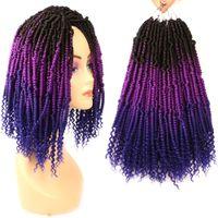 """12 """"Bomba Büküm Tığ Saç Uzantıları Tutku Büküm Saç Renkli Yay Büküm Saç Ombre Örgü Uzantıları"""