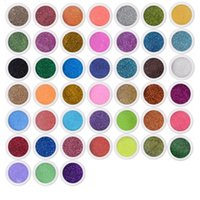 Nail Art Decorations 45 pz / set Glitter Mix Colors Fine Polvere Polvere Gel UV Polish Polish Suggerimenti in acrilico Decorazione fai da te Strumenti