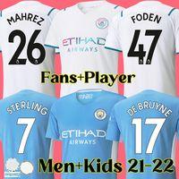 21 22 manchester futbol forması 2021 2022 MAN CITY soccer jersey DE BRUYNE STERLING FODEN MAHREZ BERNARDO FERRAN men and kids