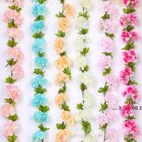 2.2m fleurs de fleurs de cerisier artificielles Guirlande Guirlande Ivy Décoration Fake Silk Flowers Vine pour la fête Arche Home Décor Chaîne EWD5502