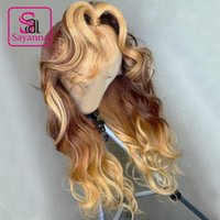 Lace Wigs #4 #27 Ombre Colored Human Hair Wig Pre Plucked Front Remy Body Wave 13x4 Frontal For Black Women
