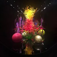 Lampes de sol colorées Lumières en verre soufflé à la main 60 pouces de haut de gamme Sculpture debout pour la décoration de la maison et projet hôtelier