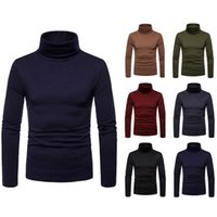 Mens Hot Thermal Turtleneck Sweaters Stretch Shirt Tops Slim Fit Winter Warm Male Sweaters Tops 6 Colors