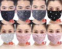 DHL anti-polvo cristal terciopelo paño de algodón mascarilla de moda mascarilla impresa unisex hombre mujer ciclismo con máscara
