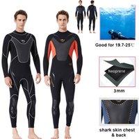 Hommes Wetsuit 3mm Néoprène Épaissez Gardez une combinaison de plongée chaude pour adultes maquillage sèche extensible pour surfer en plongée en apnée