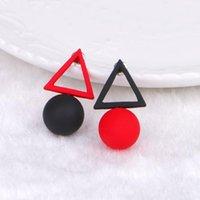 Stud Fashion Jewelry Big Long Acrylic Black White Triangle Studs Earrings For Women Gift