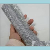 Beads Arts, Artesanato Presentes Home Garden2mm Sier Hematita FlatBackRhinestone Frisado Diamante Malha Malha Corrigir ou Auto Adhesive Roll Strass Appliqu