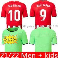 21 22 Bilbao Jersey Soccer Jersey Atletico Raul Garcia Berenguer Williams 2021 2022 Villalibre Muniain Martinez I.Martinez Men + Kids Kit Camiseta de Camicia da calcio