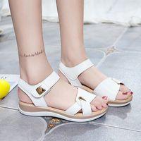 2020 Women Sandals Fashion Ladies Hook Loop Flats Female New Classic Metal Shoes Woman Open Toe Womens Back Strap Footwear C1WV#