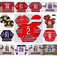Oshawa Generals Jersey 91 John Tavares 27 Kewin 2 Bobby Orr 31 Dirienzo 26 Shane Doyle 6 Jimmy McDowell 88 Eric Lindros Hockey Jersey