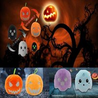 Halloween Pumpkin Ghost Plush Toy Stuffed Glowing Doll Holiday Party Prom Christmas Valentine's Day New Year Gift