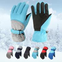 Cinque fingers Guanti Impermeabile Sci Inverno Snowboard Snowboard Guanti caldi per bambini Ragazzi Ragazze Full-Finger Strap Sport Cycling