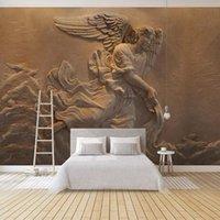 Wallpapers Dropship Custom Po Wallpaper European Style 3D Relief Figure Murals TV Sofa Bedroom Backdrop Wall Covering Home Decor 3 D
