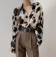Women's Blouses & Shirts Fashion Cow Print Single-Breasted Women Long Sleeve Blouse Korean Spring Female Clothes Streetwear Tops Plus Size 4