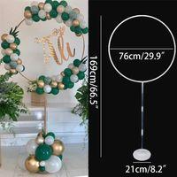 Balões Redondo Círculo Suporte Balão Hob Holder Arco Weddng Backdrop Ballon Frame Chuveiro Crianças Festa de Aniversário Decoração 210719