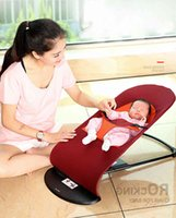 2018 New Style Newborns Folding Bed Baby Rocking Chair Cradles Bed Portable Balance Chair Baby Bouncer Infant Rocker