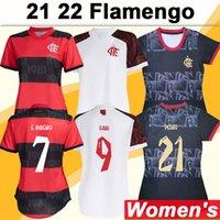 21 22 Flamengo Diego Pedro Женские футбольные трикотажки E.Ribeiro de ArraScaeta Matheuzinho Gabi Vitinho Home Alem Your Футбольные рубашки Униформа