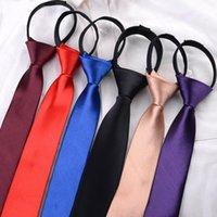 Bow Ties Men's Easy Accessories Lazy Tie Formal Neckties Pre-Tied Wedding Business Zipper Gifts