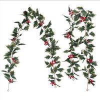 Искусство растения висит гирлянда рождественские ягоды рождественские декор дома свадебные декора настенные садовые декор фотографии фона