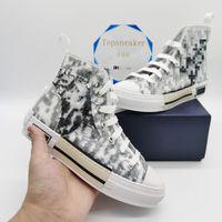 23 Casual Classic Canvas Shoes Man Donne Moda in pelle di moda Sneakers Grigio Bianco Black Shoe