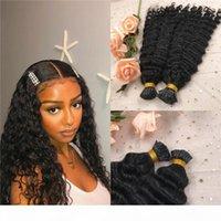 Tiefe Welle I Tipp Haarverlängerungen Natürliche schwarze Farbe Echte Jungfrau Brasilianische Micro-Links I Tip Haar 100g 1g Strang