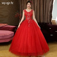 LYG-H83#Ball Gown Spring Summer New Lace up Resin Drill Bride Wedding Dress 2020 Plus Size Dresses Cheap Wholesale Red Dresses A0602