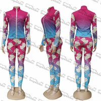 Flowers Goddess Set Hipster Top Quality Women's Designer Suits Outdoor Windproof Running Cycling Sports Long Pants Luxury Suit
