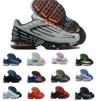 TN Plus تحولت 3 III الاحذية chaussures الثلاثي الأبيض الأسود الليزر جامعة الليزر الأزرق الأخضر og usa الأحمر رجل المدربين النسائية أحذية رياضية الحجم 36-46