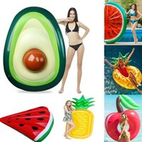 Life Vest & Buoy Inflatable Giant Fruit Avocado Pineapple Cherry Float For Adult Tube Circle Pool Party Toys Ride-On Air Mattress Swimming R
