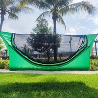 Tents And Shelters Single Camping Hammock Inflatable Mattress Mosquito Net Hammocks Sets Lightweight Portable Cot Bed Hanging Sleeping Swing