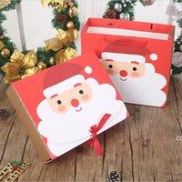 Sacs-cadeaux de neige exquis Sacs-cadeaux Santa Claus Bonhomme de neige Joyeux Noël Boîte d'emballage avec festival de ruban DHB8986
