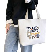 Fashion cartoon lady shopping bag, high quality canvas, women's handbag, large capacity shoulder bags, a variety of patterns to choose from