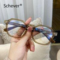 Schever Marke Anti Blue Light Männer / Frauen Luxus Vintage Gläser Klar Dekorative Brille Rahmen Männlich / Weiblich Transparente Schwarz Mode Sun1