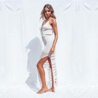 Cubiertas de trajes de baño para mujer Ropa de playa 2021 NUEVO verano algodón de punto de ganchillo traje de baño Bikini de playa Cubiertas de baño cubiertas de traje de baño Vestido largo