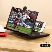 Teléfono celular Soportes Soportes XMXCZKJ 10inch Pantalla 3D Magnifier Soporte de escritorio plegable HD Video Glass Reloj Películas para iPad portátil Soporte