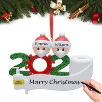 Famiglia di 2-Natale Personalized Family Name Nome Ornament Kit, Ciondolo per la decorazione dell'albero di Natale di quarantena sopravvissuta