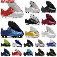 Горячие мужские Tiempo Legend Premier II 2.0 FG Футбольные ботинки Ботинки Низкие голеностопные бутки Ретро Футбол Белое Золото Черный Дешевый