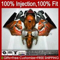 Injection mold Bodys For KAWASAKI NINJA ZX-12R ZX1200 C ZX 12 R 1200 CC ZX12R 00 01 Bodywork 2No.72 ZX 1200 12R 1200CC 00-01 ZX1200C 2000 2001 OEM Fairing Kit dark orange blk
