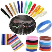 Welpen-ID-Kragen-Identifikation-ID-Halsband-Band für Welp-Welpe-Kätzchen-Hund-Haustierkatze-Samt-Praktische 12 Farben