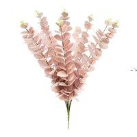 Eucalyptus Eave artificielle fleur artificielle Bureau de la plante Accueil Plantes de mariage Décor de jardin Faux Fleurs Arrangement Accessoires BWE9119