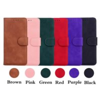 Luxury Skin Feel Leather Wallet Cases For IPhone 13 12 Mini 11 Pro XR XS MAX 8 7 6 ID Card Slot Holder Magnetic Flip Cover Plain Retro Vintage PU Men Business Fashion Pouch